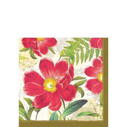 Botanical Peony Beverage Napkins, 16-pk Product image