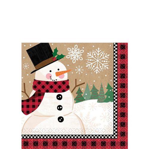 Winter Wonder Snowman Beverage Napkins, 16-pk