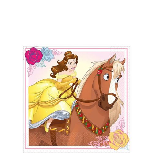 Beauty and the Beast Beverage Napkins, 16-pk