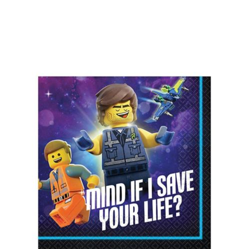 The Lego Movie 2: The Second Part Beverage Napkins, 16-pk