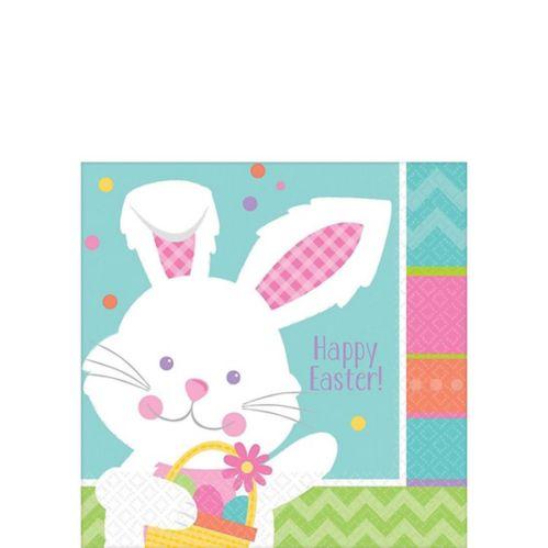 Serviettes à boisson lapin de Pâques Hippity Hop, paq. 16