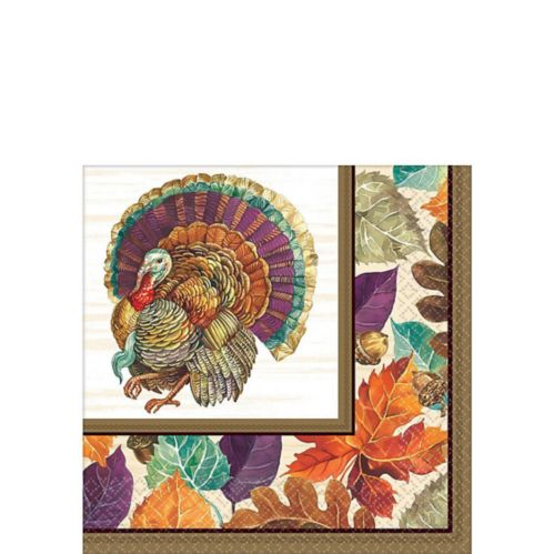 Traditional Thanksgiving Beverage Napkins, 16-pk