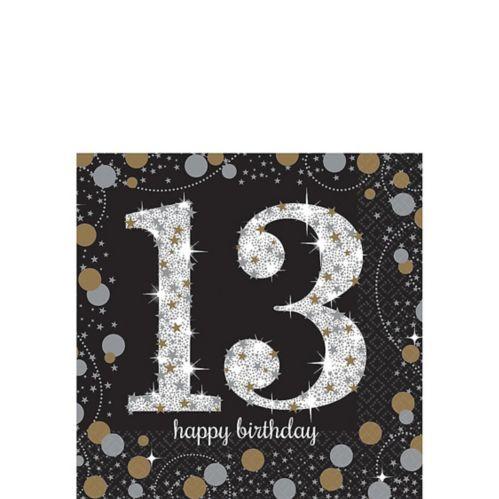 Sparkling Celebration 13th Birthday Beverage Napkins, 16-pk Product image