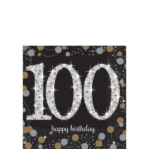 Sparkling Celebration 100th Birthday Beverage Napkins, 16-pk