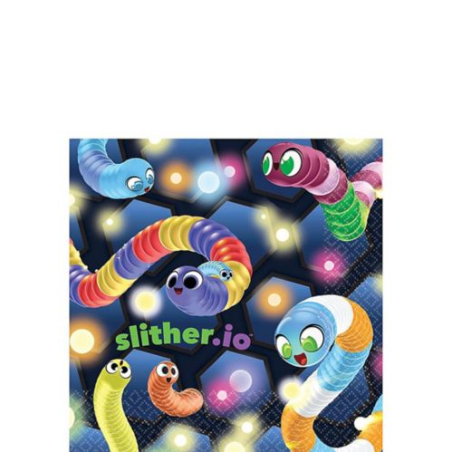 Slither.io Beverage Napkins, 16-pk