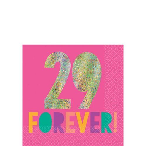 Serviettes à boisson Jeune et fabuleuse, 29 Forever, paq. 16