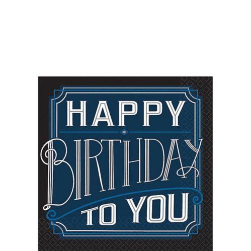 Serviettes à boisson Happy Birthday classiques, paq. 16