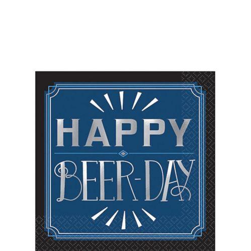Serviettes à boisson Happy Beer-Day rétro, paq. 16