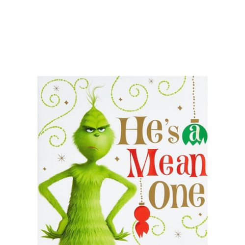 Grinch He's a Mean One Beverage Napkins, 16-pk Product image