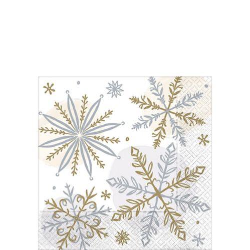 Shining Snow Beverage Napkins, 16-pk Product image