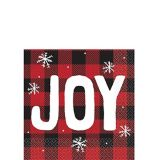 Cozy Holiday Joy Beverage Napkins, 16-pk