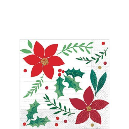 Serviettes pour boissons, souhaits de Noël, paq. 16