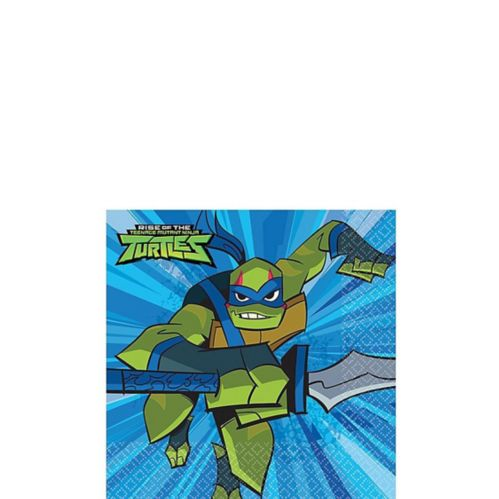 Rise of the Teenage Mutant Ninja Turtles Beverage Napkins, 16-pk