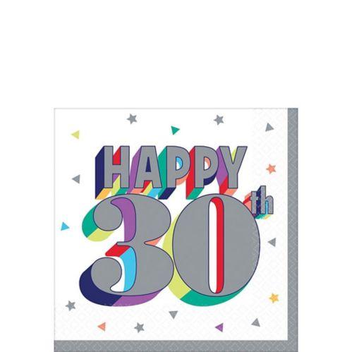 Here's to 30 Birthday Beverage Napkins, 16-pk