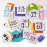 Here's to 50 Birthday Beverage Napkins, 16-pk