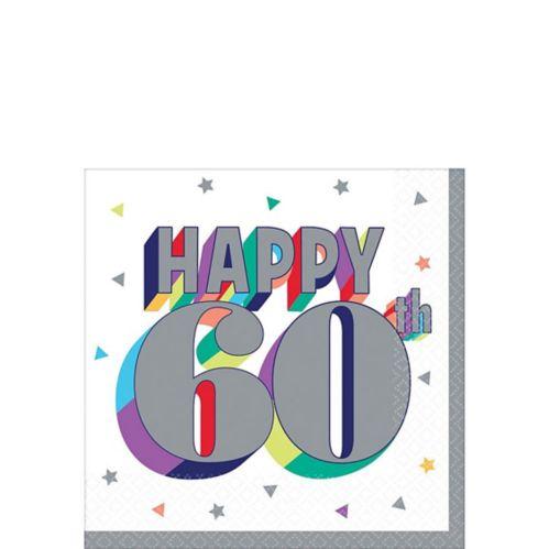 Here's to 60 Birthday Beverage Napkins, 16-pk