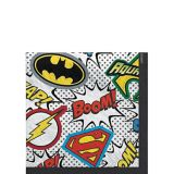 Justice League Super Hero Napkins, 16-pk | WARNER BROSnull