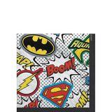 Serviettes de table de super-héros de La ligue des justiciers, paq. 16 | WARNER BROSnull