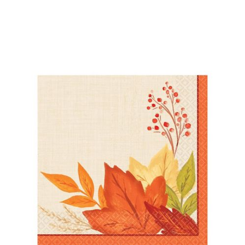 Fall Foliage Beverage Napkins, 16-pk
