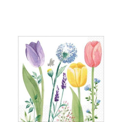Tulip Garden Beverage Napkins, 16-pk