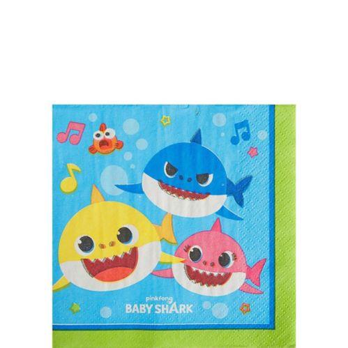 Baby Shark Beverage Napkins, 16-pk