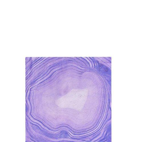 Purple Geode Beverage Napkins, 16-pk Product image