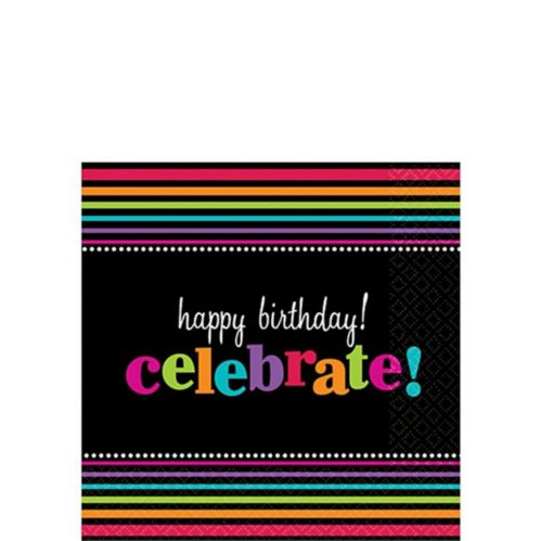 Party On Beverage Napkins, 16-pk