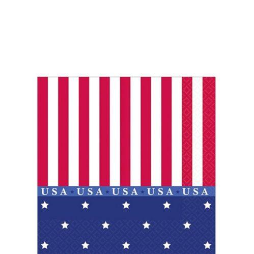 American Classic Patriotic Beverage Napkins, 16-pk Product image