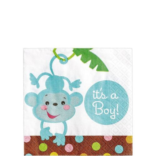Fisher-Price Jungle Boy Baby Shower Beverage Napkins, 16-pk Product image