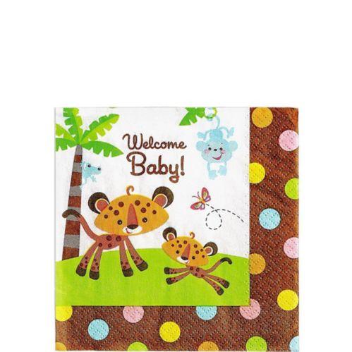 Fisher-Price Jungle Baby Shower Beverage Napkins, 16-pk Product image