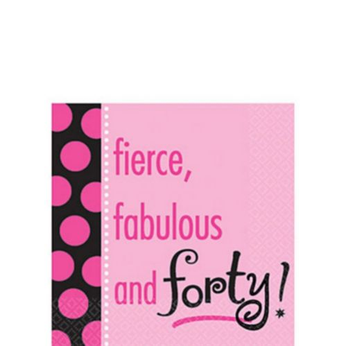 40th Another Year Fabulous Beverage Napkins, 16-pk