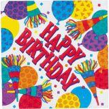 Serviettes pour boissons d'anniversaire, avec cornes, paq. 16