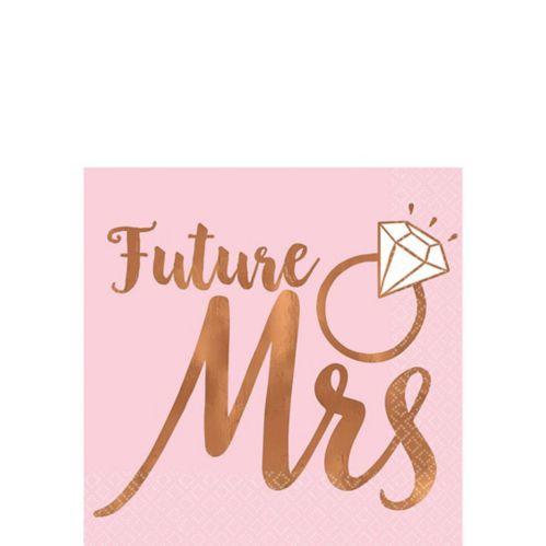 Blush & Rose Gold Future Mrs Beverage Napkins, 16-pk