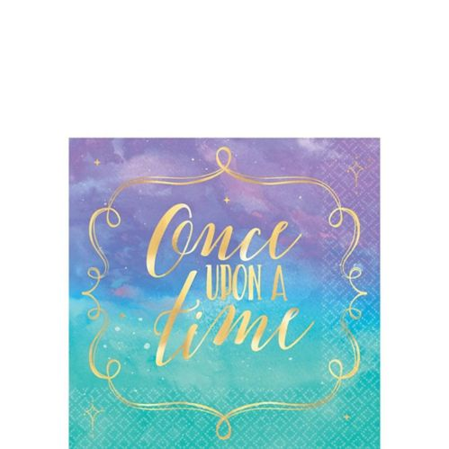 Metallic Disney Once Upon a Time Beverage Napkins, 16-pk