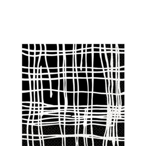 Crosshatch Beverage Napkins, Black Product image
