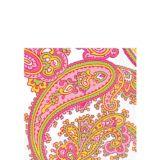Serviettes de table à motif cachemire menthe rose
