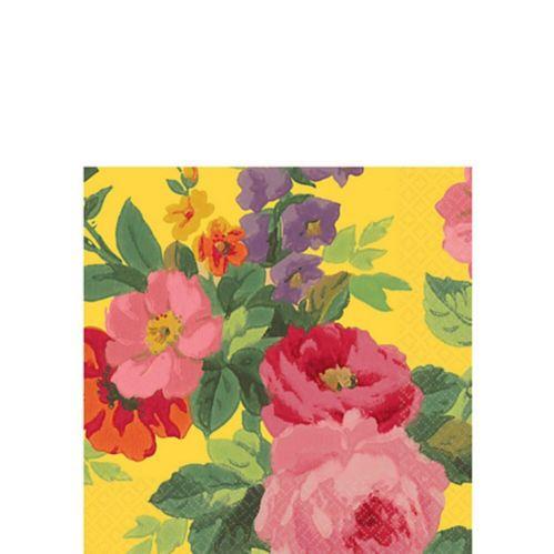 Serviettes de table roses jaune vif
