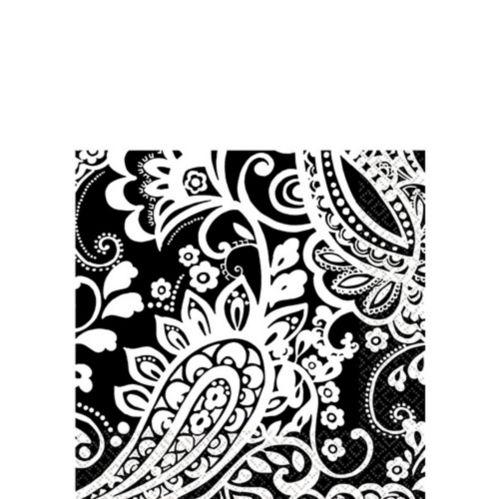 White Elegant Paisley Napkins Product image