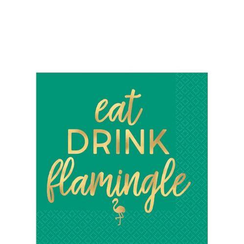 Serviettes à boissons Eat Drink Flamingle, paq. 16