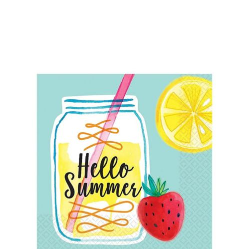 Serviettes à boissons Limonade Hello Summer, paq. 16