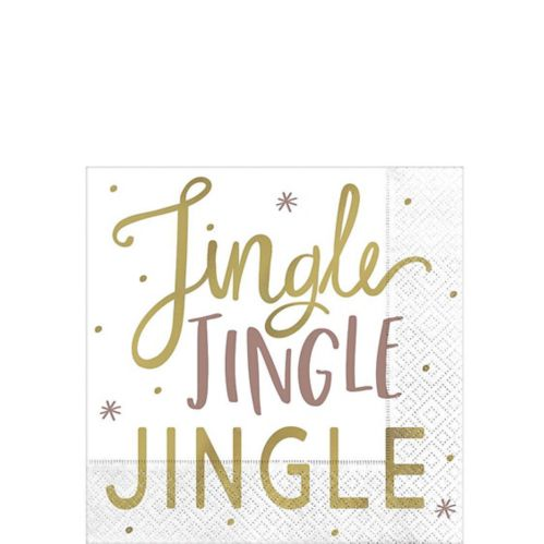 Metallic Jingle Jingle Beverage Napkins, 16-pk