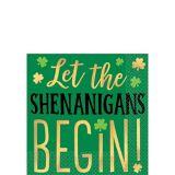 Serviettes à boissons Shenanigans St-Patrick, paq. 16