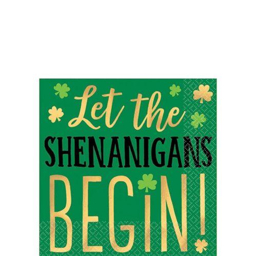 Shenanigans St Patrick's Day Beverage Napkins, 16-pk