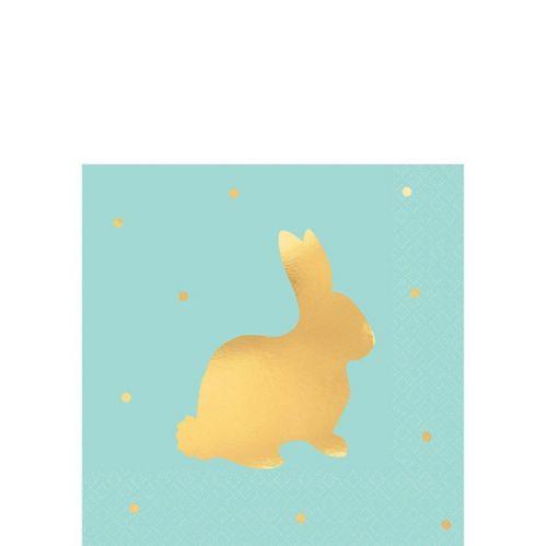 Light Blue Easter Bunny Beverage Napkins, 16-pk Product image