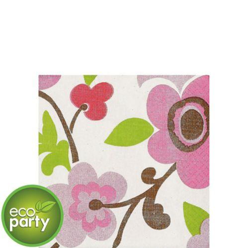 Serviettes à boissons en lin à motif floral