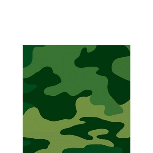 Serviettes à boissons Camouflage, paq. 16