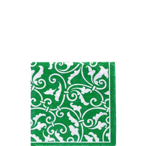 Scroll Beverage Napkins, 16-pk