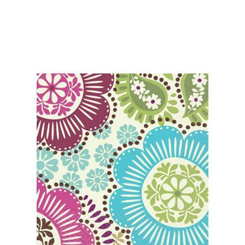 Serviettes à boissons à motif floral, paq. 16