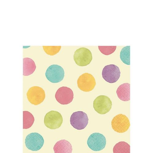 Soft Watercolour Dots Beverage Napkins, 16-pk