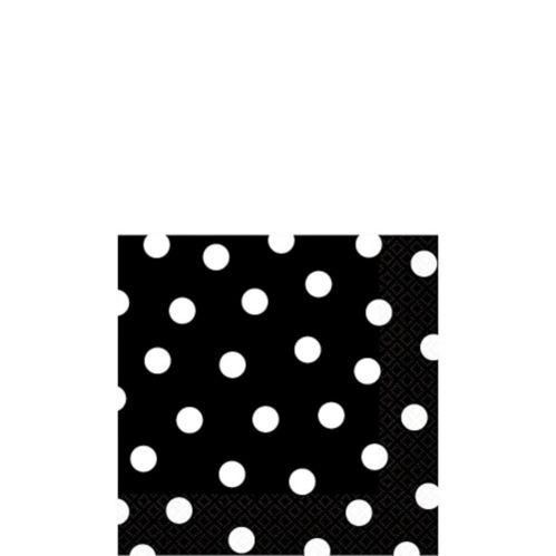 Black Dot Beverage Napkins, 16-pk
